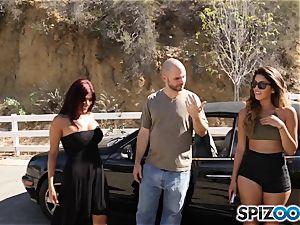boner longing pick up with Sophia Leone and Gina Valentina
