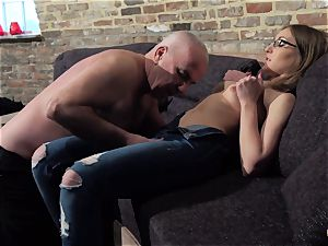 granddad gets man rod sucked and humid marvelous little girl