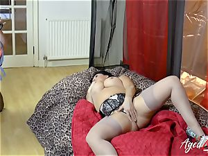 AgedLovE Lacey Starr bi-racial gonzo act