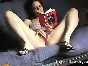 Home Alone Selfie Reading Erotica and wanking