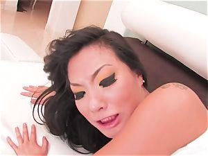 sexy Asa Akira guzzles his jizm