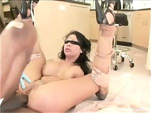 She drizzles On big black cock For joy