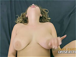 super-sexy cougar with ample innate breasts gets porked and jizzed on in point of view