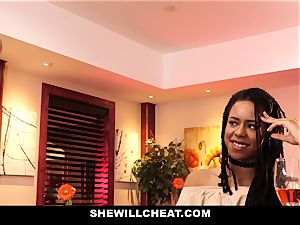 SheWillCheat - cheating wifey plows big black cock in douche