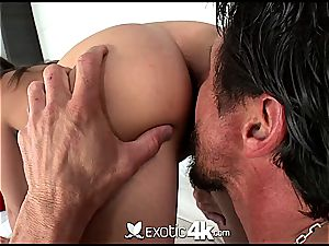 classy Cassidy Banks bends over for doggy style