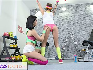 sport rooms Pert small nubile gym chicks