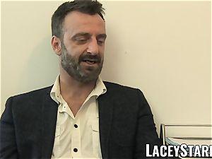 LACEYSTARR - GILF eats Pascal milky spunk after hook-up