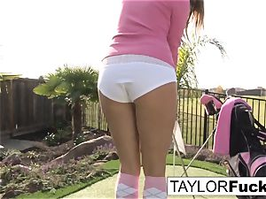Taylor shows you her meaty breasts