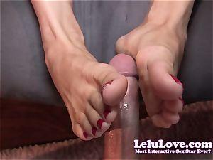 Lelu Love-Toe fellating Footjob popshot