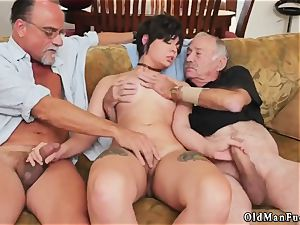 old tutor nubile female More 200 years of sausage for this splendid black-haired!