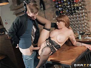 Danny tucking his massive man rod into sizzling ginger-haired