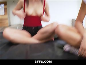 Step-Sis and friends boinked While toying My flick Game