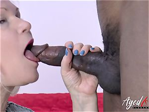 AgedLovE Lacey Starr and ebony dude gonzo