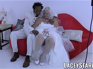 LACEYSTARR - grandmother bride fed with spunk after nailing