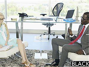 BLACKED hot secretary Odette Delacroix very first big black cock