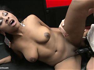 harsh Kathia Nobili thrusts her cord on rod deep down her partner mouth