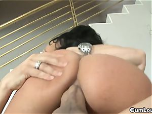 naughty Anissa Kate rails a enormous chisel deep in her rump