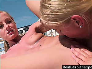 sizzling Seaside fucky-fucky For two all girl stunners