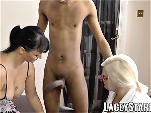 LACEYSTARR - Mature doc plowed by bi-racial couple