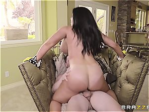 curvaceous mummy Sybil Stallone takes son-in-law for a ride
