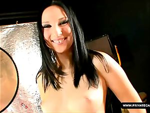 Lee Dia and Nicole Evans giving point of view deepthroat audition