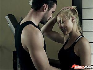 Kayden Kross plows her trainer Charles Dera