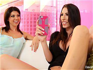 super-cute Tara screws her big-chested stepsister Dava