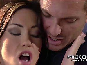 PINKO HD Mya and her taut pinkish coochie