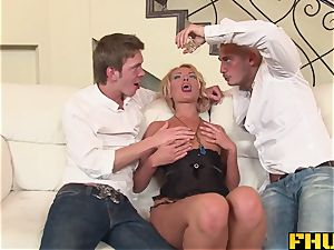 Fhuta slutty Russian nubile thrilled by her first double penetration