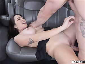 Karlee Grey picked up and rammed on the Bangbus