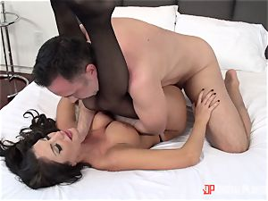 Creaming on the face of August Ames after a steamy rock hard slit thrashing