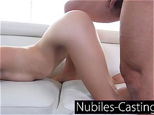 Piper Perri casts very first time hardcore for tiny nubile