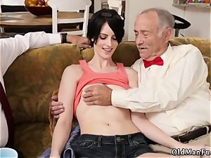 warm milf youthful schlong and curly dark-haired mommy Frannkie goes down the Hersey highway
