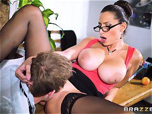 schoolteacher sensual Jane pulverized throughout a classroom desk