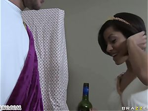 inebriated Greek cutie takes trunk of her fresh boyfriend