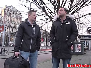 humungous Amsterdam escort cockriding tourist