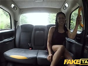 fake cab fast fuckin' and internal ejaculation for peachy arse