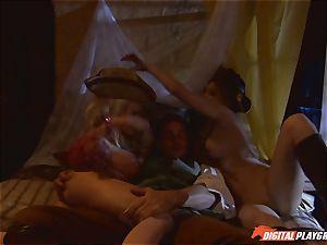 Pirate jams his hard meat sword into Devon and Teagan Presley