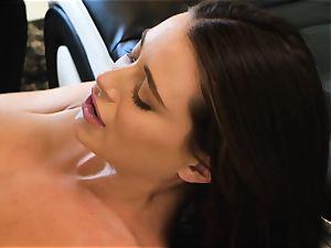 Lana Rhoades glides that hard boner into her super hot minge
