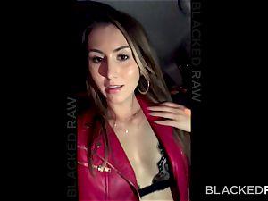 Bored slut cheats her bf with a big black cock