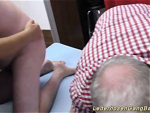 nasty german groupsex bukkake intercourse