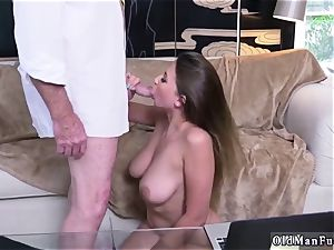 Latino parent and ambisexual cuckold stud first-ever time Ivy amazes with her large hooters and booty