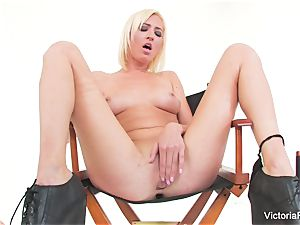 sumptuous stunner Victoria white shows off her impressive bod