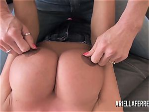 immense hooter playtime with Ariella Ferrera and Deauxma