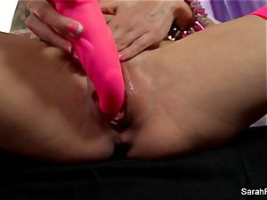 Sarah Jessie humps herself with a rosy plaything