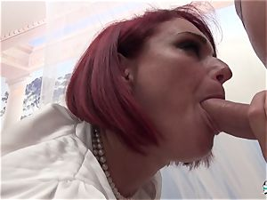 La Cochonne - amateur French red-haired in filthy rectal drill