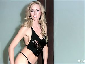 sumptuous Brett Rossi nude against the wall