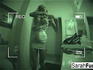huge-boobed superstar Sarah smashes
