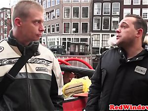 cockblowing amsterdam prostitute cummed on
