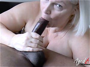 AgedLovE Lacey Starr hardcore bi-racial smash